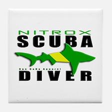 Scuba Diver: Nitrox Shark Tile Coaster