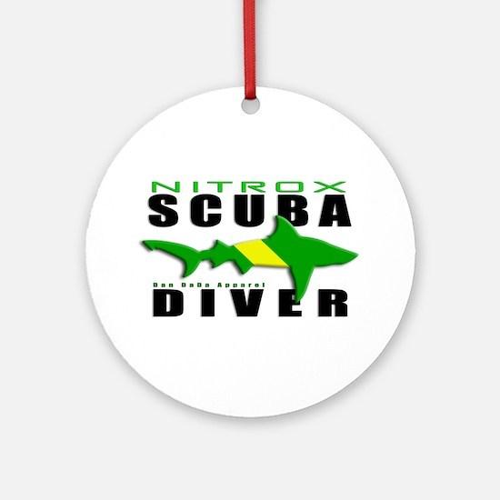 Scuba Diver: Nitrox Shark Ornament (Round)