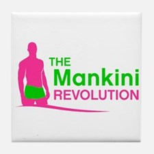 Cute Mankini Tile Coaster