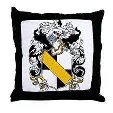 Hoe Coat of Arms Throw Pillow