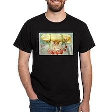 1910 Victorian Valentine Black T-Shirt