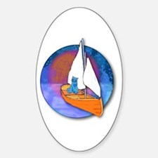 Sail Cat Oval Decal