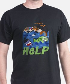 Help Save Environment Black T-Shirt