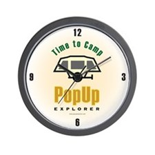 Time to Camp PUX Wall Clock