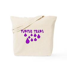PURPLE TEARS Tote Bag