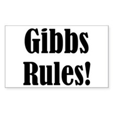 Gibbs Rules! Rectangle Decal