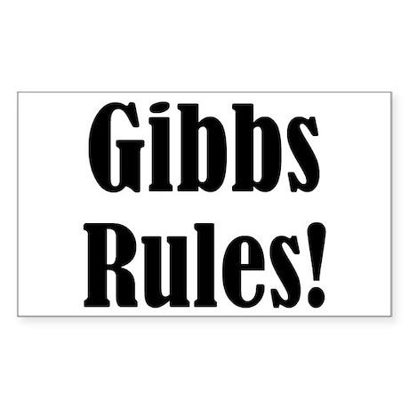 Gibbs Rules! Rectangle Sticker