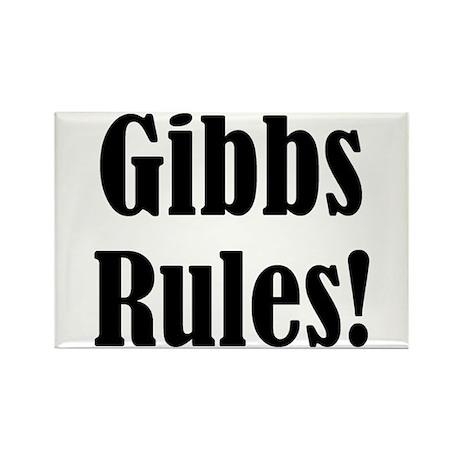 Gibbs Rules! Rectangle Magnet