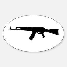 Rifle AK 47 Oval Decal