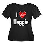 I Love Haggis (Front) Women's Plus Size Scoop Neck