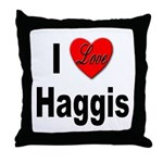 I Love Haggis Throw Pillow