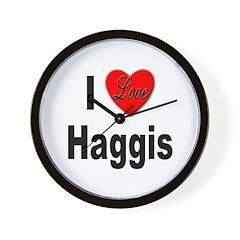 I Love Haggis Wall Clock