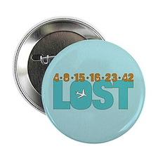 """4 8 15 16 23 42 Blue 2.25"""" Button"""