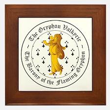 Gryphon's Pride Valkyrie Gold Framed Tile