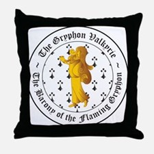 Gryphon's Pride Valkyrie Gold Throw Pillow
