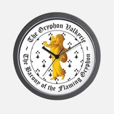 Gryphon's Pride Valkyrie Gold Wall Clock
