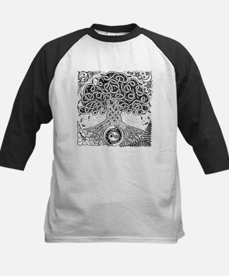 Celtic Tree of Life Ink Kids Baseball Jersey