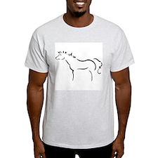 Wind Horse Ash Grey T-Shirt