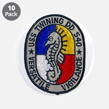 """USS TWINING 3.5"""" Button (10 pack)"""