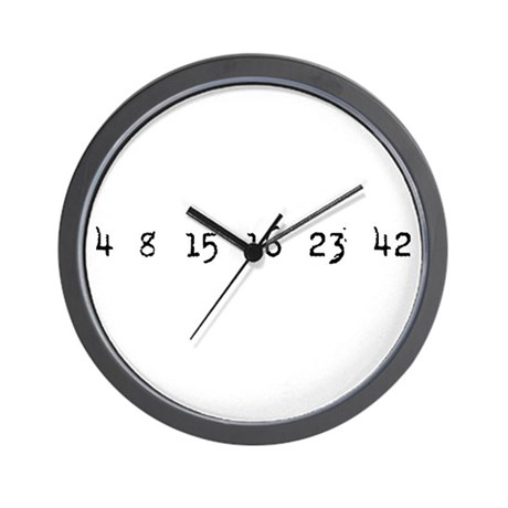 4815162342 LOST Numbers Wall Clock