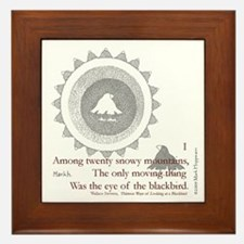 Cute Writers authors Framed Tile