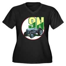 Cute Ford tractor Women's Plus Size V-Neck Dark T-Shirt