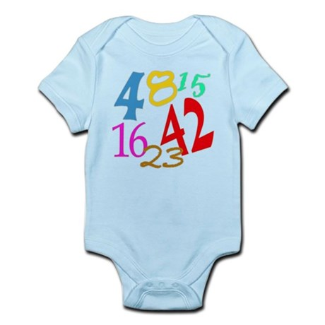 Lost Numbers 4 8 15 16 23 42 Infant Bodysuit