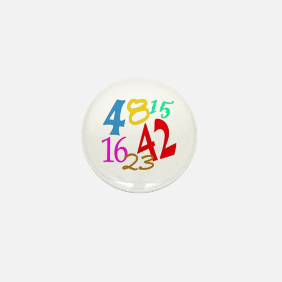 Lost Numbers 4 8 15 16 23 42 Mini Button
