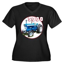 Unique Ford tractor Women's Plus Size V-Neck Dark T-Shirt