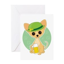 Shamrock Chihuahua Greeting Card