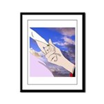Luke and Zeldah - hands Framed Panel Print