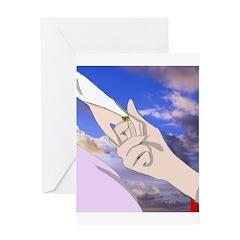 Luke and Zeldah - hands Greeting Card