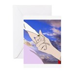 Luke and Zeldah - hands Greeting Cards (Pk of 10)