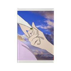 Luke and Zeldah - hands Rectangle Magnet