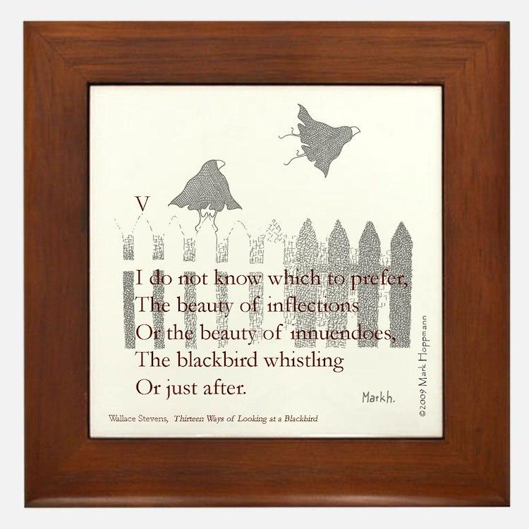 Cute If poem Framed Tile