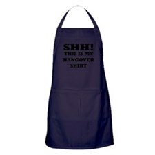 Shh! This is my hangover shir Apron (dark)