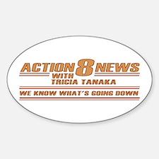 Tricia Tanaka Oval Sticker (10 pk)