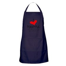 Love of Pooping Funny Gift Apron (dark)