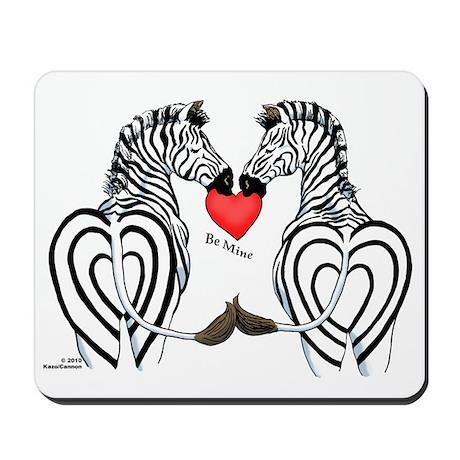 Zebra Valentine Mousepad