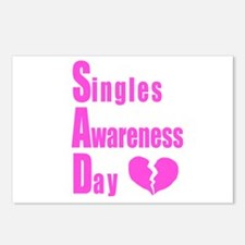 Singles Awareness Day Postcards (Package of 8)