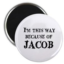 """because of Jacob 2.25"""" Magnet (10 pack)"""