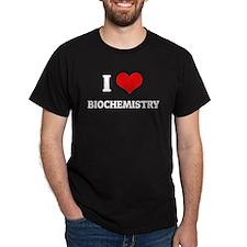 I Love Biochemistry Black T-Shirt