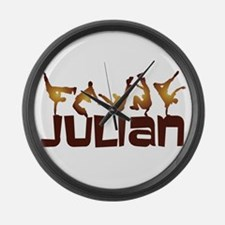Street Dancing - Personalized - Large Wall Clock