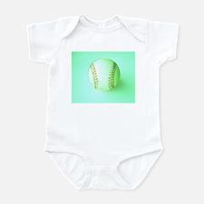Half Pint Baseball Fan Onesie Infant Bodysuit