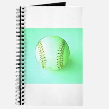 I Love Baseball Artistic Spiral-Bound Journal