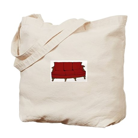 Red Couch Tote Bag