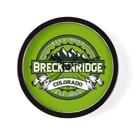 Breckenridge Green Wall Clock