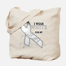 I Wear White for my Son Tote Bag