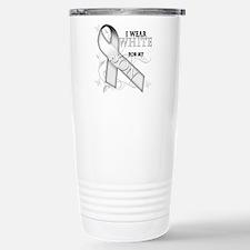 I Wear White for my Son Travel Mug