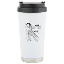 I Wear White for my Mom Travel Mug